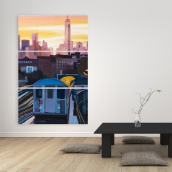 Canvas 40 x 60 - Sunset over the subway in new-york