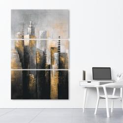 Canvas 40 x 60 - Abstract gold skyscraper