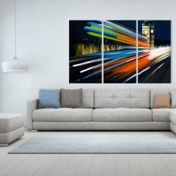 Canvas 40 x 60 - London bus with long exposure