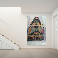 Canvas 40 x 60 - Building architecture in new-york