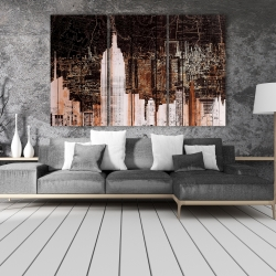 Canvas 40 x 60 - The empire city of newyork