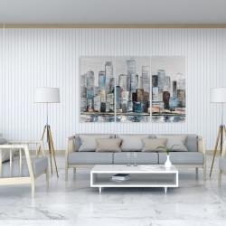 Canvas 40 x 60 - Abstract urban skyline