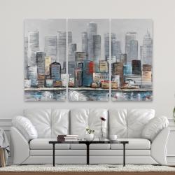 Canvas 40 x 60 - Abstract city skyline