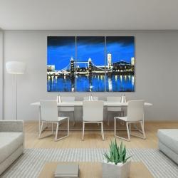 Canvas 40 x 60 - Blue skyline of london