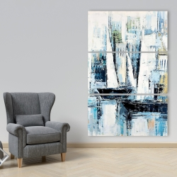 Canvas 40 x 60 - Industrial style boats