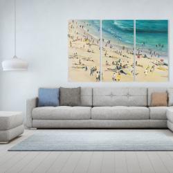 Canvas 40 x 60 - Summer crowd at the beach