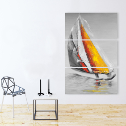 Canvas 40 x 60 - Two colors sailing boat