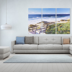 Canvas 40 x 60 - Walk to the beach