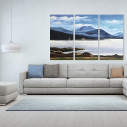 Canvas 40 x 60 - Scottish highlands by a beautiful day