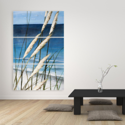 Canvas 40 x 60 - Wild herbs in the wind on at the beach