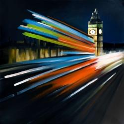 London bus with long exposure