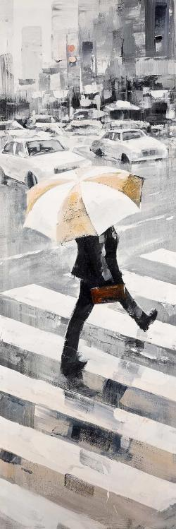 Man walking with his umbrella