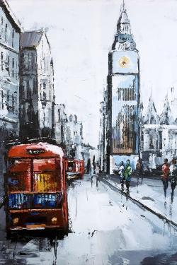Abstract london and red bus