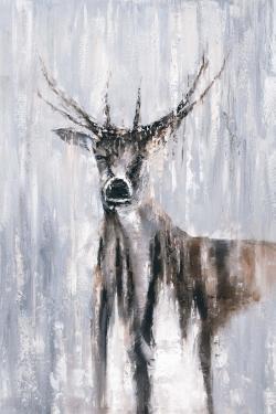 Winter abstract deer