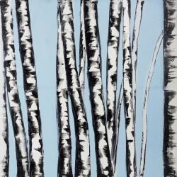 Pastel birches