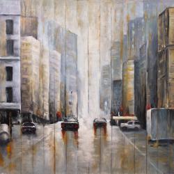 Cars in the morning rain