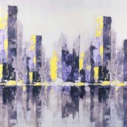 Abstract purple city
