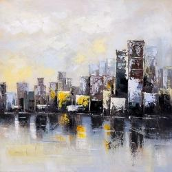 Abstract city in the morning