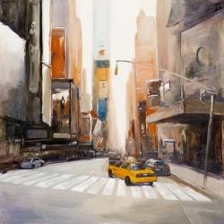 Rue calme et taxi