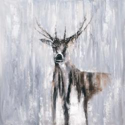 Winter abstract deer