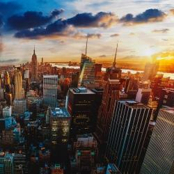 City of new york by dawn