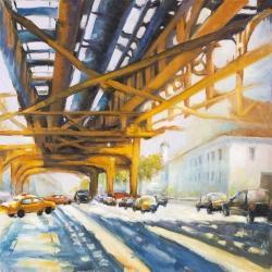 Trafic under the bridge