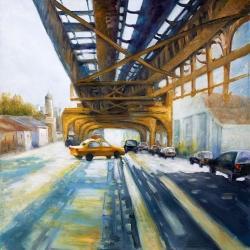 Cars under the bridge