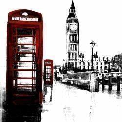 Telephone box and big ben of london