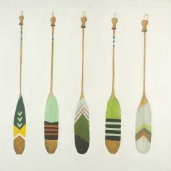Colorful nautical oars