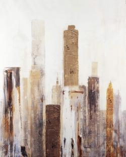 Abstract earthy tones city