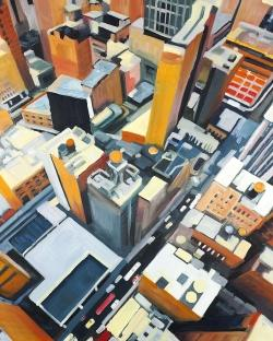 High top view of buildings in new york