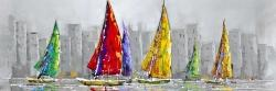 Sailboats in the wind