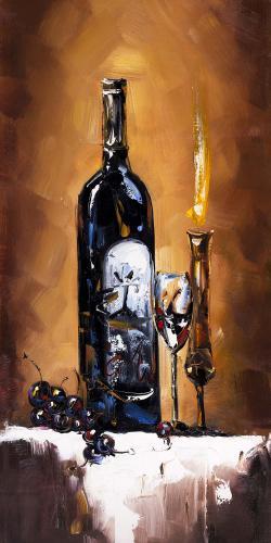 Candlelit wine