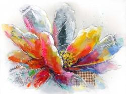 Fleur abstraite avec texture