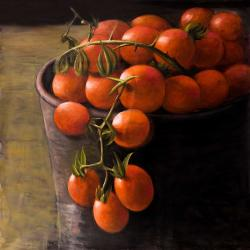 Bucket of cherry tomatoes