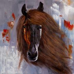 Proud brown horse