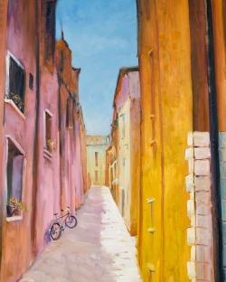 Colorful houses in the streets of collioure