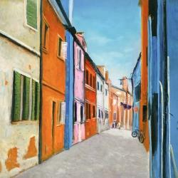 Colorful houses in italy