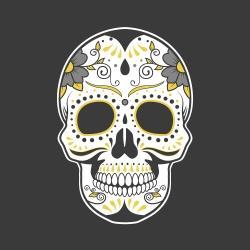 Mexican sugar skull art