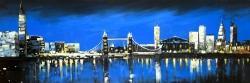 Blue skyline of london