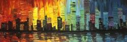 City with color tones