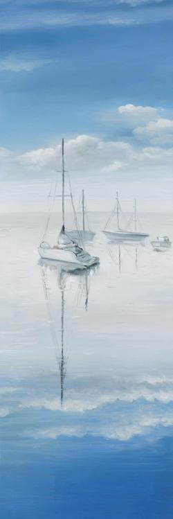 Sailboats on the quiet lake