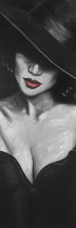 Mystérieuse dame aux lèvres rouges