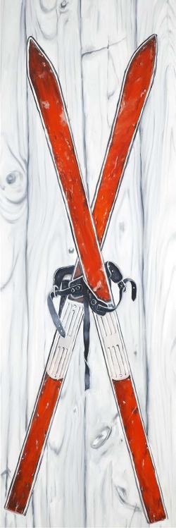 Vintage red ski