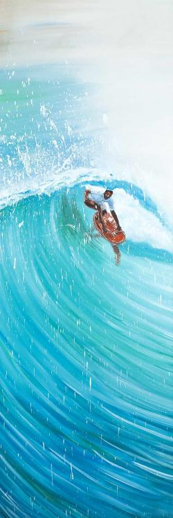 Surfer in the middle of the wave