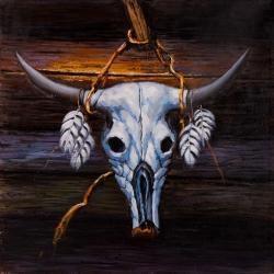Crâne de taureau suspendu