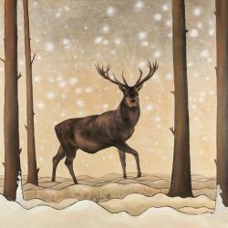 Roe deer in a winter landscape