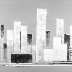 Abstract black and white buildings