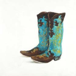 Bottes de cowboy bleues