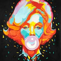 Colorful maryline monroe bubblegum